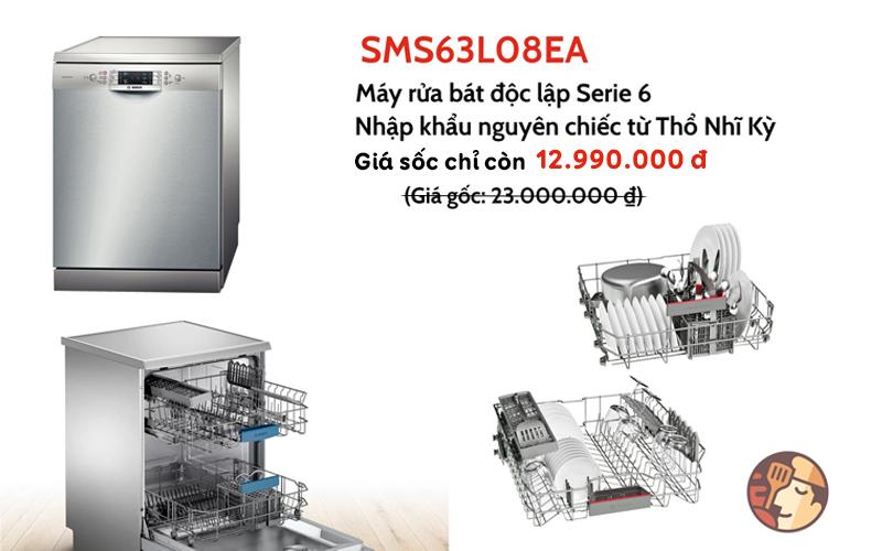 Review chi tiết máy rửa bát Bosch SMS63L08EA serie 6