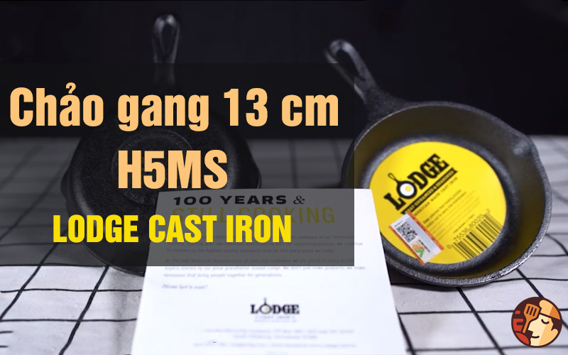 Review Chảo gang Lodge 13 cm - H5MS
